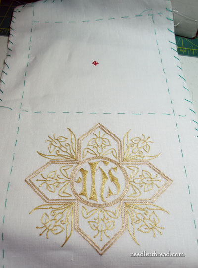 Hand Embroidered Pall Finishing Work