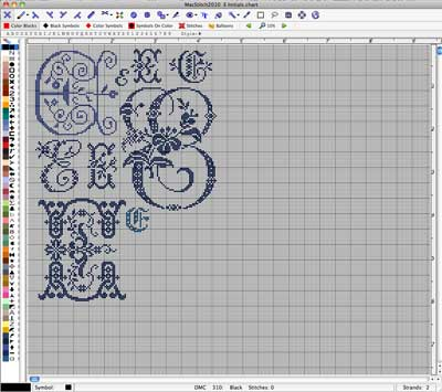 MacStitch Program - Monograms