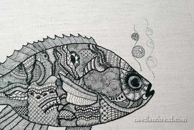 Blackwork Fish Embroidery Project