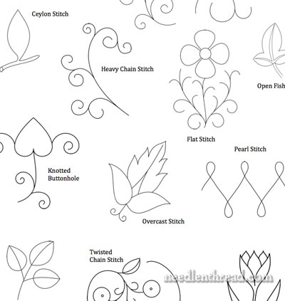 More Small Hand Embroidery Patterns – Needlenthread.Com