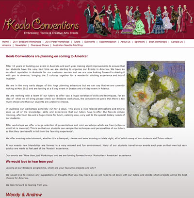 Koala Conventions Needlework Workshops