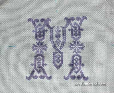 Monogram on Sampler