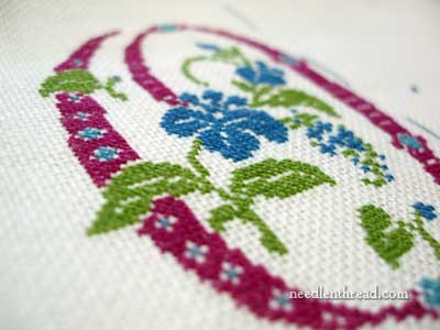 Developing an Embroidered Spot Sampler: Initials