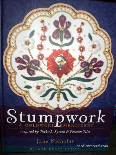 Stumpwork and Goldwork Embroidery inspired by Turkish, Syrian, & Persian Tiles