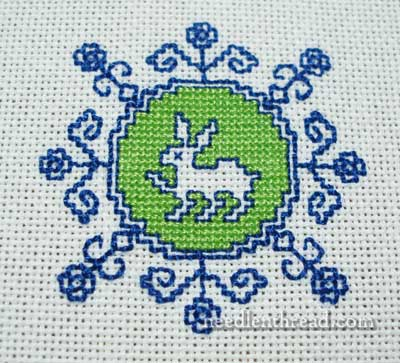 Assisi Embroidery: Rabbit Medallion