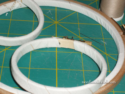 Binding Both Rings on Embroidery Hoops