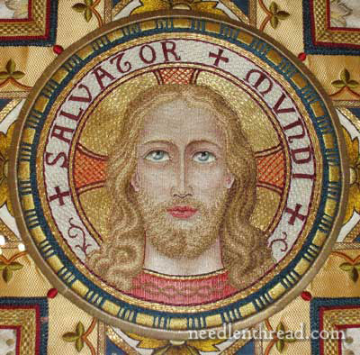 Ecclesiastical Embroidery: Salvator Mundi Vestment