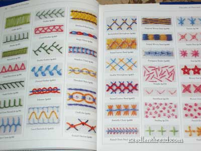 Different types of embroidery stitches with names