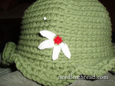 Embroidery on Crochet: Hats