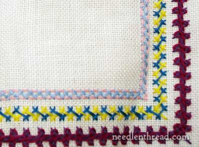 Developing a Spot Sampler: Herringbone Stitch