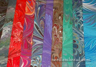 Marbleized Fabric & Embroidery