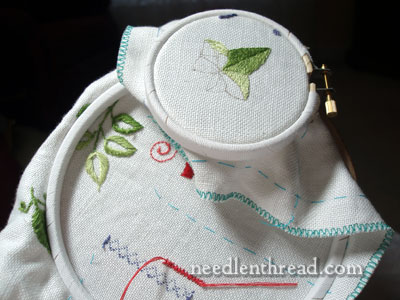 Using Two Embroidery Hoops at a Time