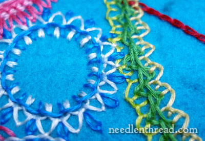 Embroidered Wool Felt with Floche