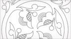 Jacobean Circular Embroidery Design