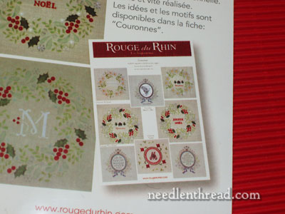 Rouge du Rhine embroidery kits
