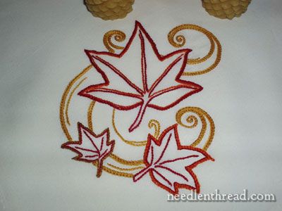 Thanksgiving Embroidery Project