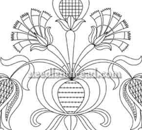 Hand Embroidery Design: Tulips & Carnations