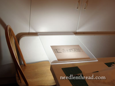 Light Table to Trace Embroidery Patterns
