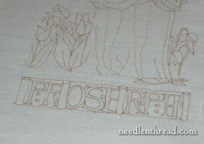 Transferring Embroidery Design on Linen