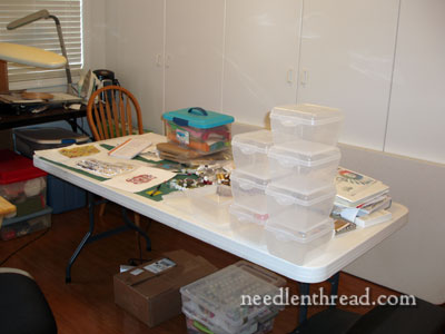 Needlework Work Room Organization