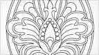 Hand Embroidery Pattern: Stylized Pomegranate