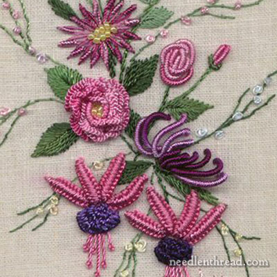 Brazilian Embroidery Tutorials http://www.needlenthread.com/2011/01/brazilian-embroidery-inspiration.html
