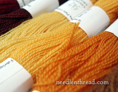 Wool Embroidery Threads for Pomegranate Corners Project