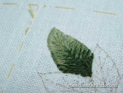 Wool Embroidery: Pomegranate Corners