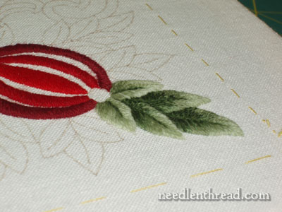 Wool Embroidery Project: Pomegranate Corners