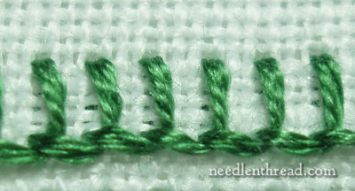 Buttonhole Stitch Direction