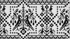 Hand Embroidery Pattern: Counted Thread Bird Border