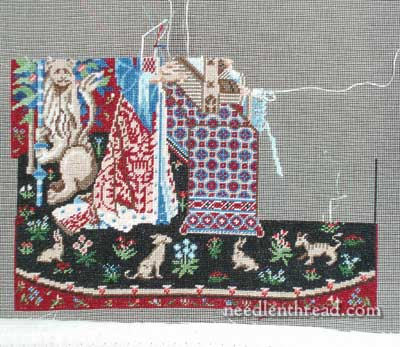 Miniature Embroidery Cluny Lady & Unicorn Tapestry