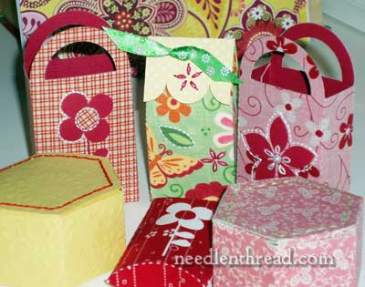 Fabric, Paper, & Embroidered Boxes
