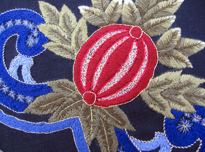 Reader's Embroidery: Pomegranate Corner