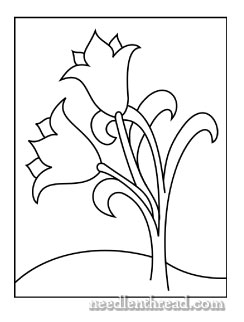 Free Hand Embroidery Pattern: Little Tulips