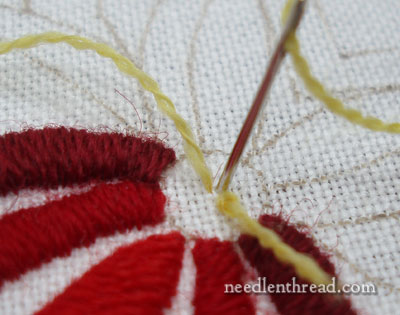 How To Satin Stitch a Dot