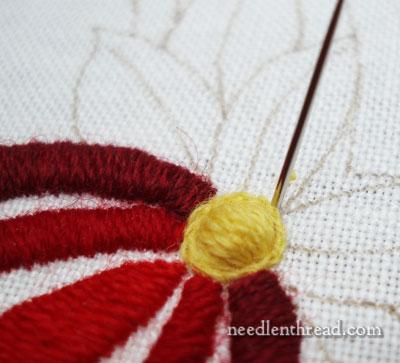 How To Satin Stitch a Dot