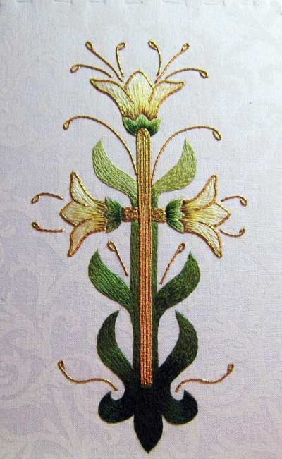 Easter Lilies Embroidered