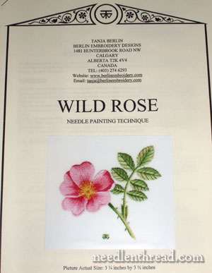 Berlin Embroidery Wild Rose Needlepainting Kit
