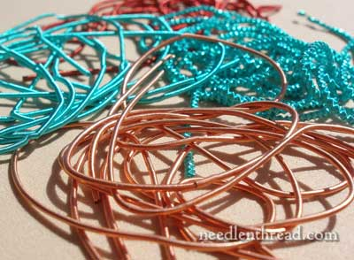 Colored Metal Threads for Hand Embroidery