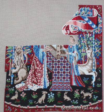 Miniature Embroidery: Lady & Unicorn Tapestry