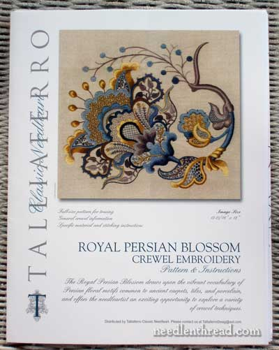 Talliaferro Crewel Embroidery Design: Royal Persian Blossom Design Kit