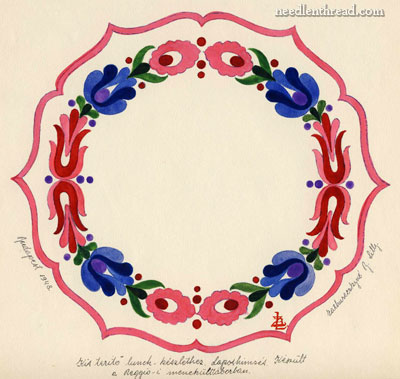 Hungarian Hand Embroidery Pattern
