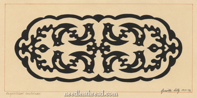 Hungarian Hand Embroidery Pattern #7: Whitework Birds