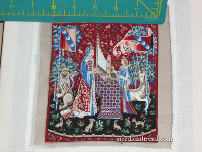 Miniature Cluny Tapestry on Silk Gauze