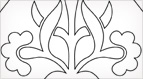 Pugin Tile Embroidery Design