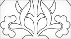 Pugin Tile Embroidery Design