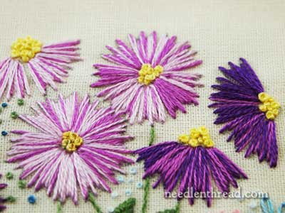 Simple Is Good Straight Stitch Flowers  NeedlenThread