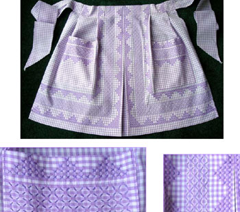 Stitch School: embroidering on gingham