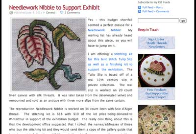 Needlework Nibble to Raise Funds